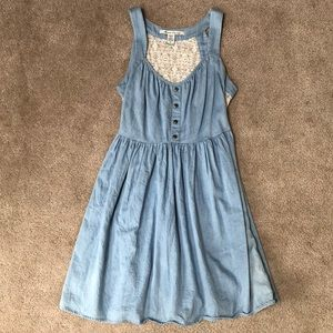 Jean dress with lace back